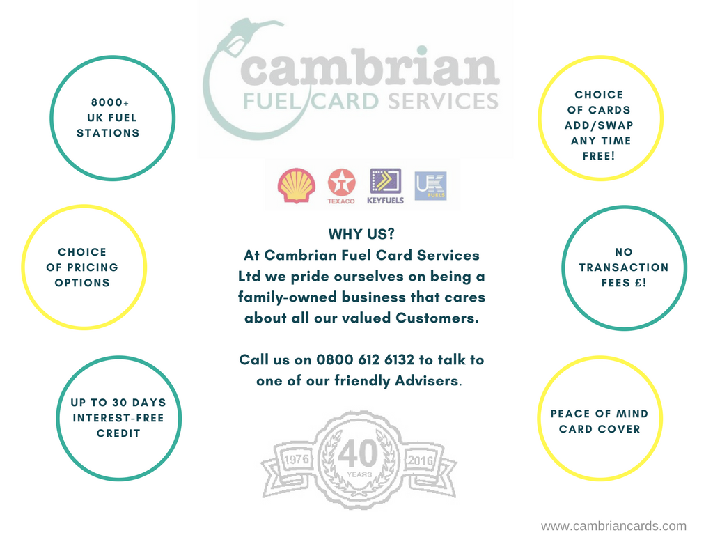Cambrian Fuel Cards Business fuel -diesel - petrol - telematics