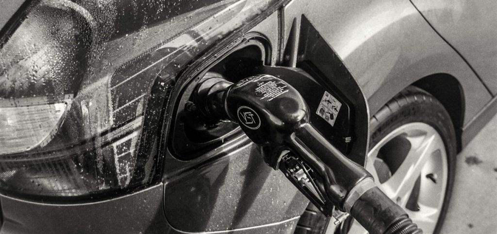 car refueling at petrol station