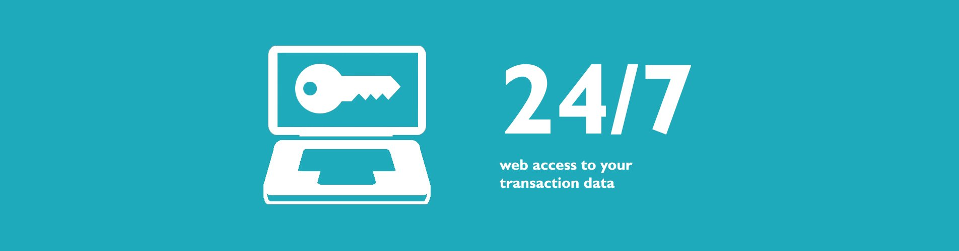 24-7 web access to your transaction data
