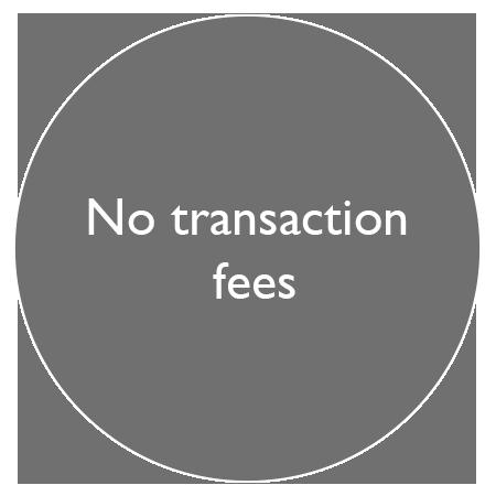 no transaction fees