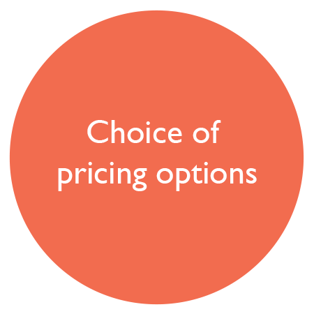 choice of pricing options