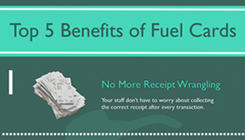 top 5 benefits of fuel cards infographic preview