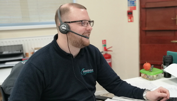 our helpful account manager Calum taking a call
