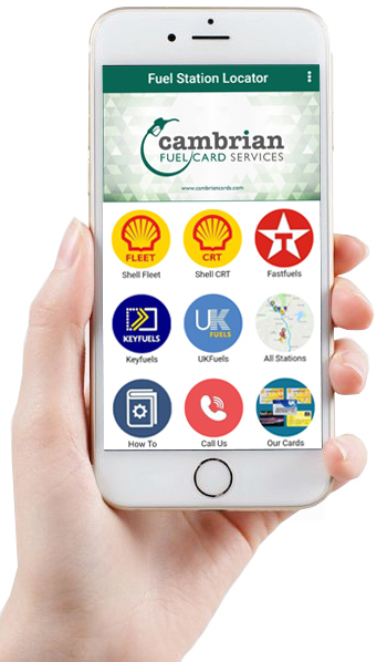 hand holding mobile phone with cambrian app on it