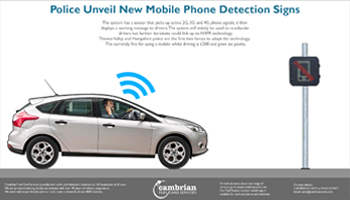 new signs can detect mobile phone use and warn drivers