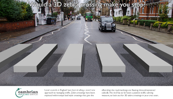3d zebra crossing trials underway
