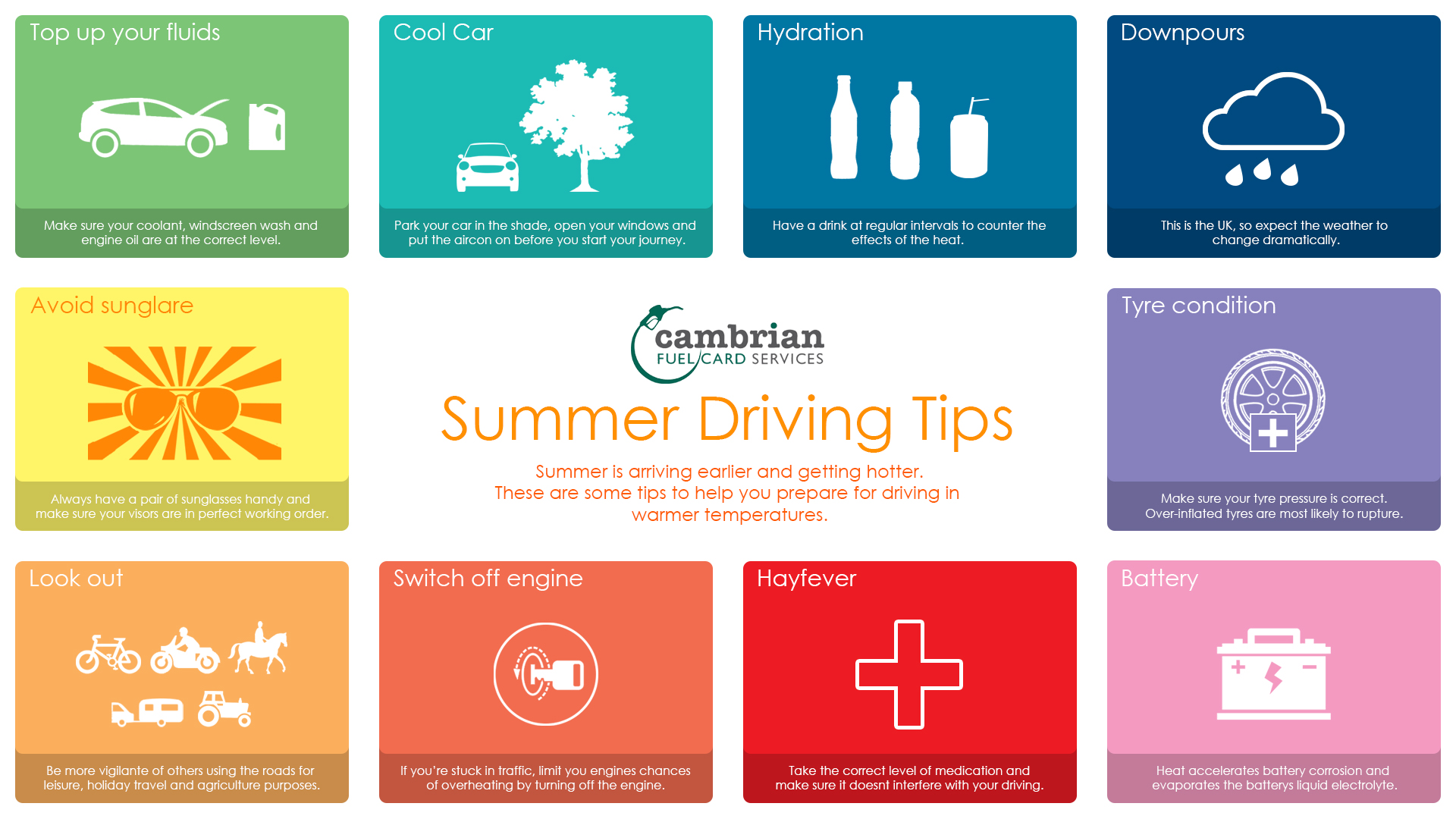 10 top summer driving tips