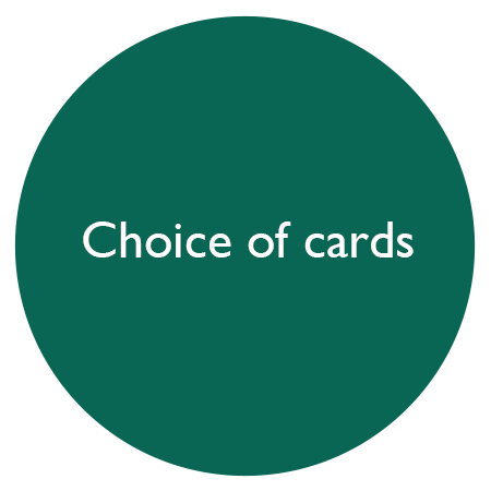 choice of cards