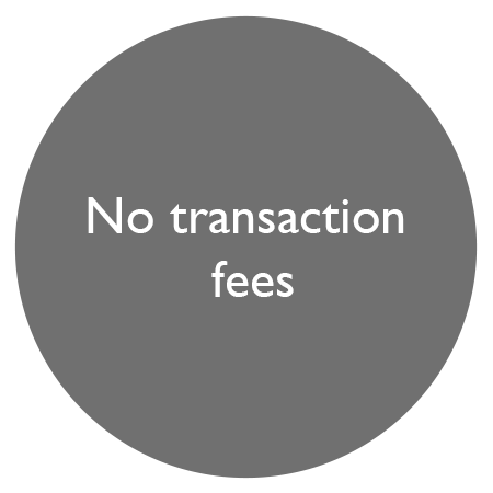 no transaction fees