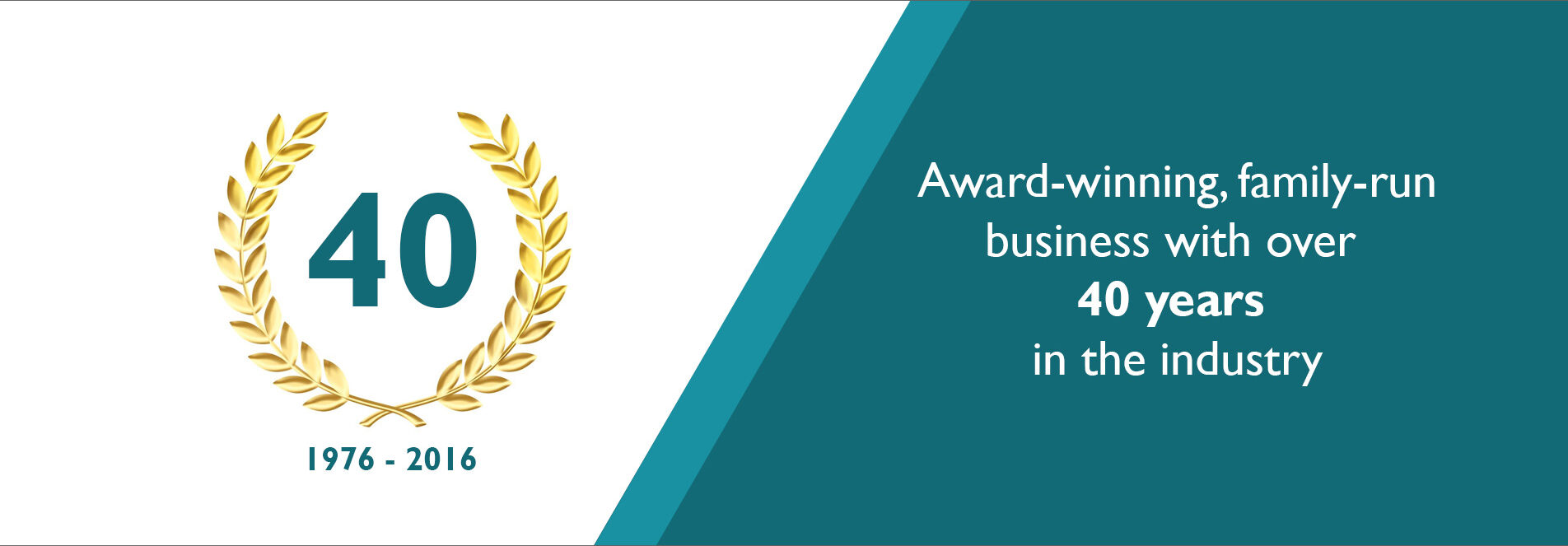 award winning family run business with over 40 years of industry experience