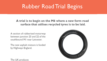rubber roads infographic preview
