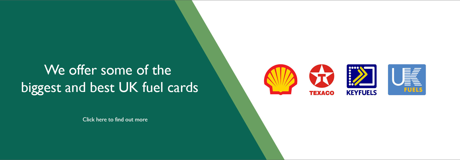 We offer some of the biggest and best UK fuel cards