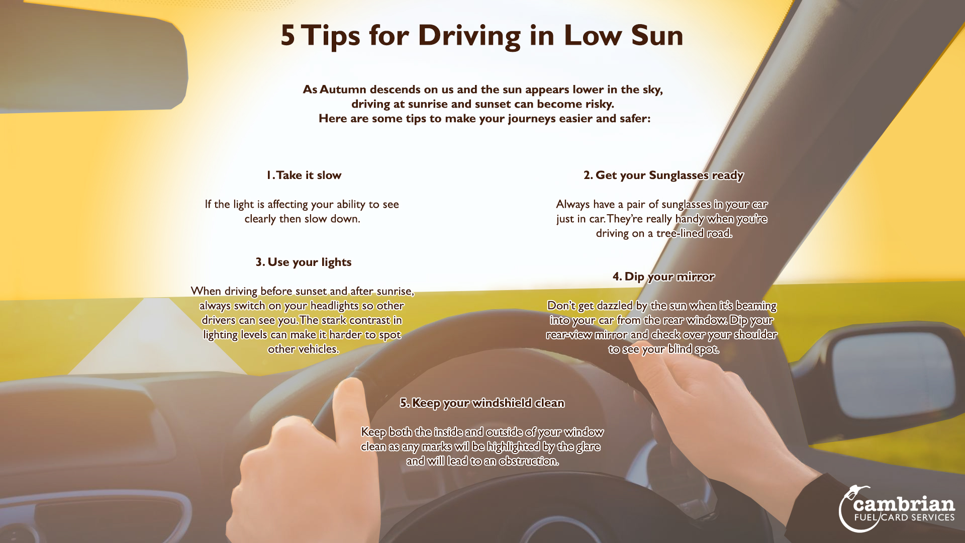low sun tips infographic