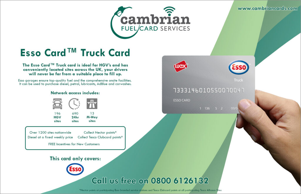 esso truck card infographic
